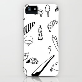 Black and White Lures iPhone Case