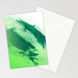 Green Smear Stationery Cards