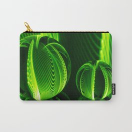Lime lines in the glass balls. Carry-All Pouch