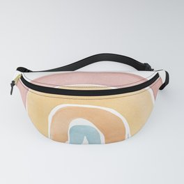 Over the rainbow, abstract watercolor geometric print Fanny Pack