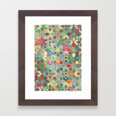 Gilt & Glory - Colorful Moroccan Mosaic Framed Art Print