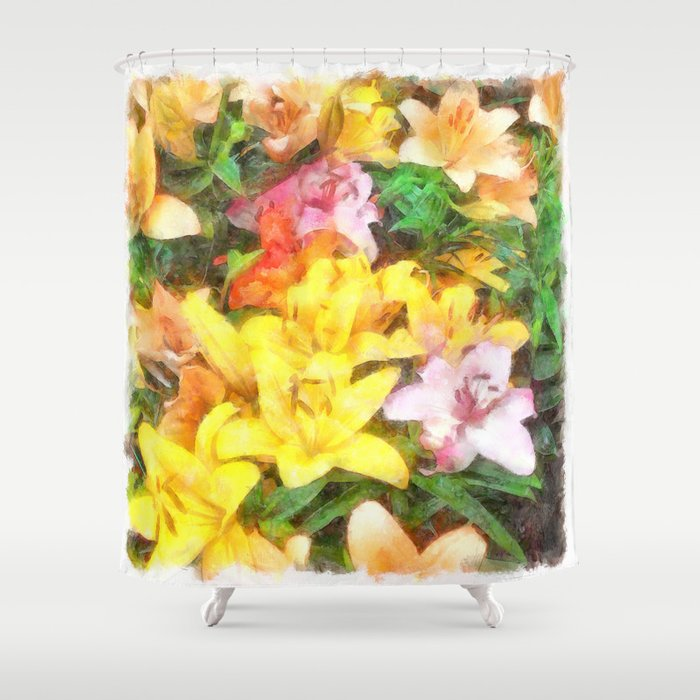 Lilies Love and Light Shower Curtain