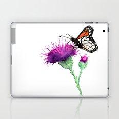 Monarch and Milk Thistle Laptop & iPad Skin