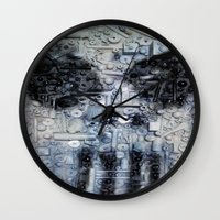 punisher Wall Clocks featuring THE PUNISHER by JANUARY FROST