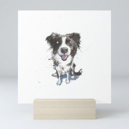 Inky Border Collie Mini Art Print