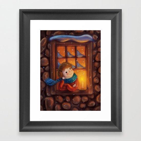 Goodnight (Christmas Eve) Framed Art Print