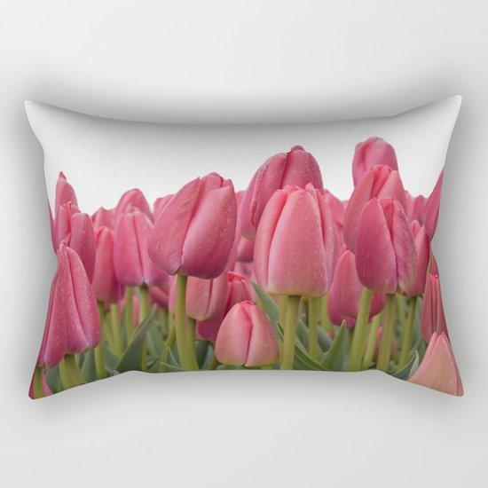Tulips Field #7 Rectangular Pillow