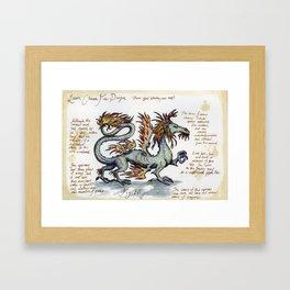 Lesser Chinese Fire Dragon Framed Art Print