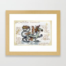 Lesser Chinese Fire Dragon Framed Art Print