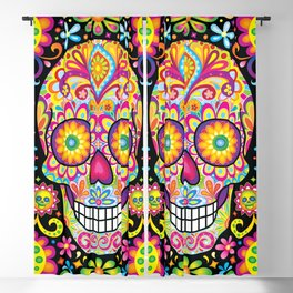 Sugar Skull Art (Spark) Blackout Curtain