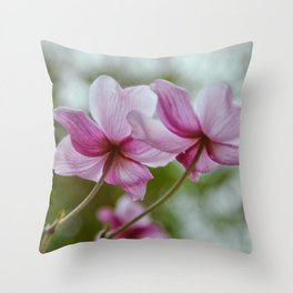flower photography by Charlotte B Throw Pillow