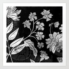 Porcelan Posies Art Print