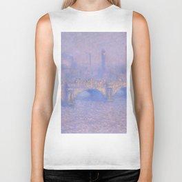 """Claude Monet """"Waterloo Bridge, Effect of Sun"""" Biker Tank"""