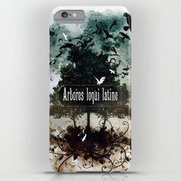 arbores loqui latine iPhone Case