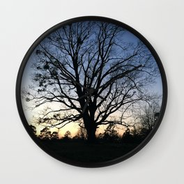 arkansas spring at sunset Wall Clock