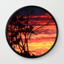 Central Oregon Sunset Wall Clock