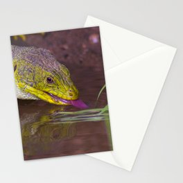 The ocellated lizard Stationery Cards
