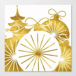 Gold Christmas 01 Canvas Print