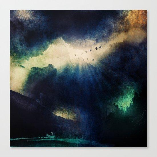 Tormenta negra. Canvas Print