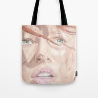 fifth element Tote Bags featuring The Fifth Element by JadeJonesArt