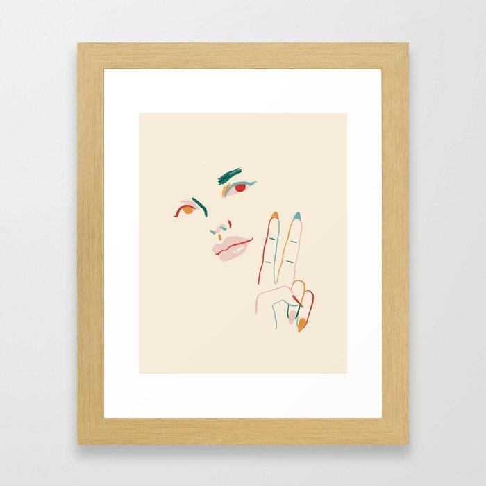 Peace Gerahmter Kunstdruck