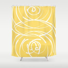 Yellow Flow 2 Shower Curtain