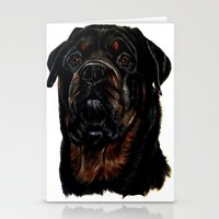 rottweiler Stationery Cards featuring Male Rottweiler by taiche