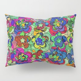 Retroblooming Pillow Sham