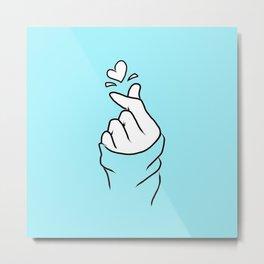 Finger Love Metal Print