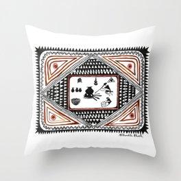 Fire (Nibedita Khosla) Throw Pillow