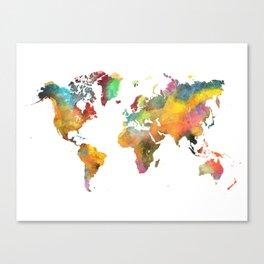 world map 4 Canvas Print