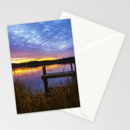Sunset at Denbigh Pier II Stationery Cards