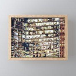 Voyeuristic 1711 Vancouver Cityscape Framed Mini Art Print