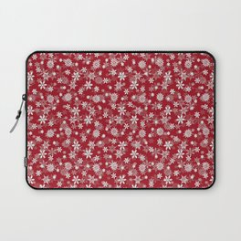 Christmas Cranberry Red Jelly Snow Flakes Laptop Sleeve