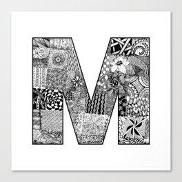 Cutout Letter M Canvas Print