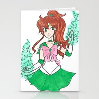 sailor jupiter Stationery Cards featuring Sailor Jupiter by StarShineSoldier