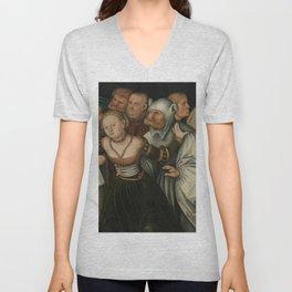 Lucas Cranach the Elder - Bocca della verita Unisex V-Neck