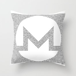 Binary Monero Throw Pillow