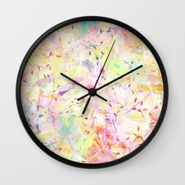 Colorful Twigs Wall Clock