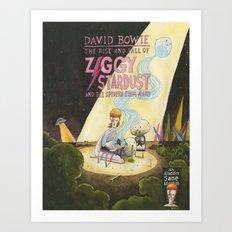 Ziggy Stardust - Book 3 - Bowie Art Print