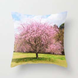 Beautiful cherry blossoms Throw Pillow