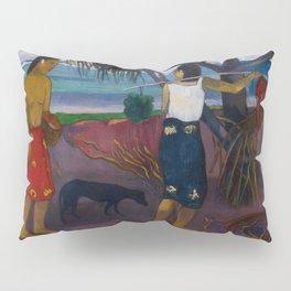 Under the Pandanus II by Paul Gauguin Pillow Sham