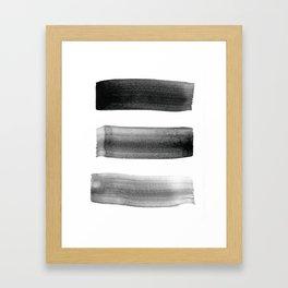 Three Brushes Framed Art Print