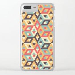 Pastel Geometric Pattern Clear iPhone Case