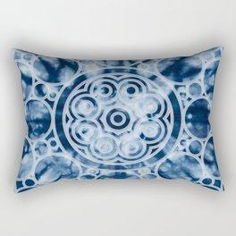Manta Ray Mandala Indigo Rectangular Pillow