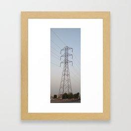 POWER LINE Framed Art Print