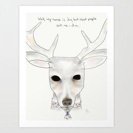 jim deer Art Print