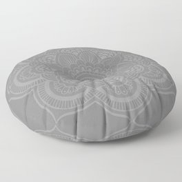 Gray Mandala Floor Pillow