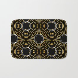 Gold and silver snowflake gifts Bath Mat