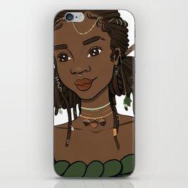 Autumn Oak Goddess • Black Girl Magic in Fall Colors iPhone Skin
